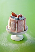 Strawberry charlotte with marshmallows