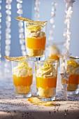Mandarin trifles for Christmas dinner