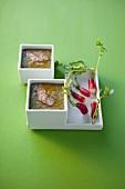 Cream of radish leaf soup