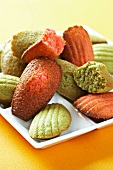 Colourful madeleines