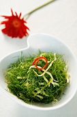 Fried rice noodles with fennel leaves