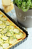 Courgette quiche with thyme and Parmesan