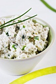 Brousse (French cream cheese) with chives
