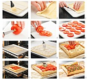 Steps for Making a Tomato Mozzarella Tart