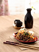 Beef stir-fry with Chinese egg noodles