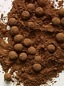 Dredging Chocolate Truffles in Cocoa Powder