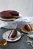 A chocolate and ricotta cheesecake