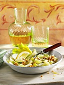 Celery salad with nuts