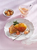 Stuffed Amaretto pears