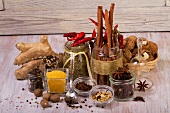 Various Christmas spices