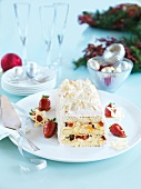 White chocolate terrine with candied fruits (Christmas)