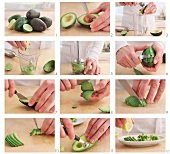 Different ways of preparing avocado (German voice-over)