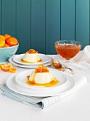 Panna cotta with mandarin syrup