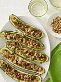 Platter of Stuffed Zucchini