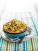 Spaghetti with clams and gremolata