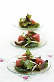 Mixed salad with watermelon and duck breast