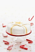 Christmas cake and candy canes