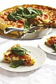 Tomato tart with basil