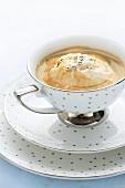 Affogato al caffè (Mit heißem Espresso übergossenes Vanilleeis)