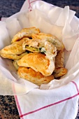 Chicken and courgette pastries