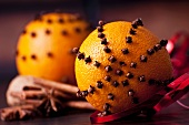 Oranges pierced with cloves