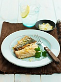 Sea bass with lemons