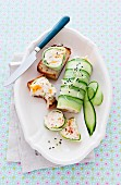 Chicken terrine with apricots and cucumber strips