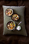 Bean soup with sweetcorn and carrots