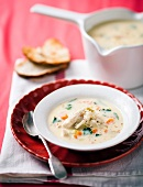 Zuppa piemontese (rice soup with chicken and lemon)