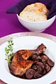 Plate of coq au vin