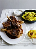 Lamb legs with preserved lemons