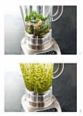 Making Pesto in a Blender