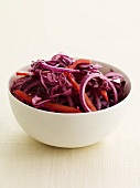 Purple Cabbage, Onion and Pepper Slaw
