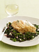 Fish Fillet on Wilted Greens
