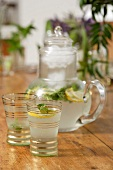 A refreshing lemon drink with mint