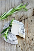 Chevre cendre from France, sliced