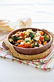 Aubergine and tomato salad