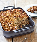 Bread Stuffing in a Baking Dish