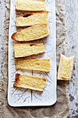 Crostini with Melted Gruyere