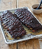 Two Racks of Barbecued Ribs