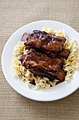 Port Braised Short Ribs over Noodles