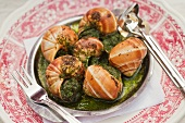 Escargot on Serving Dish