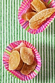 Crystallized Ginger in Colorful Cupcake Wrappers