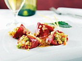 Stuffed Piquillo Pepper Appetizer with White Wine