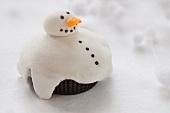 Cupcakes als Schneemann