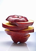 Sliced and Stacked Red Delicious Apple