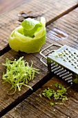 Lime zest and a grater