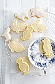 Easter biscuits with orange glaze