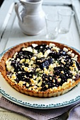 Beetroot, goats cheese and red onion savoury tart