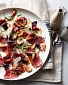 Plate of beef carpaccio